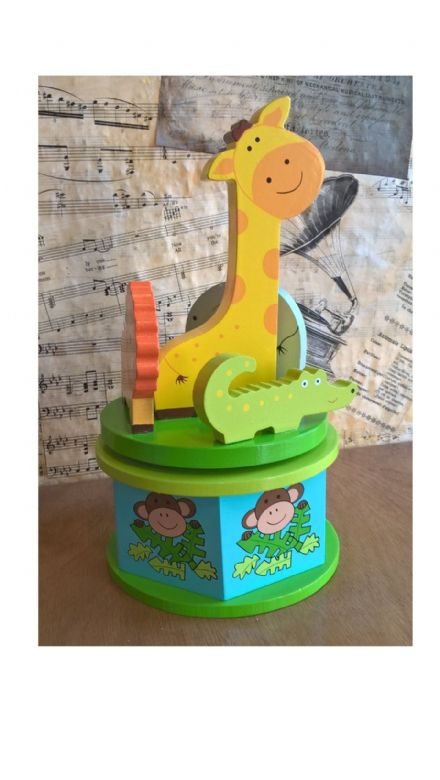 Safari Wooden Musical Carousel